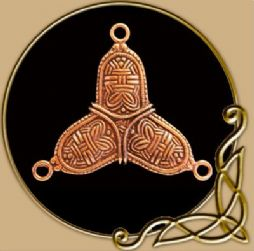 Viking Trefoil-Shaped Cloak Ornament, Bronze